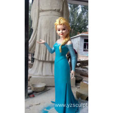 Outdoor Fiberglass Elsa Sculpture For Sale